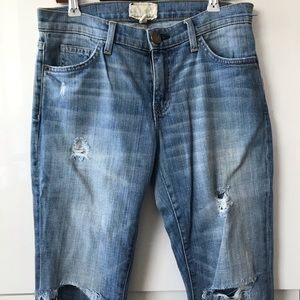 Current Elliott skinny distressed jeans - size 27